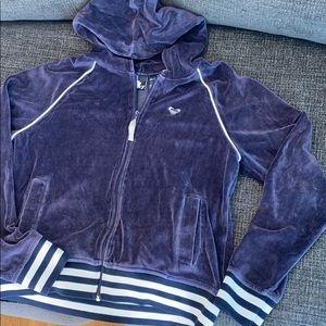ROXY Velour hoodie sweatshirt